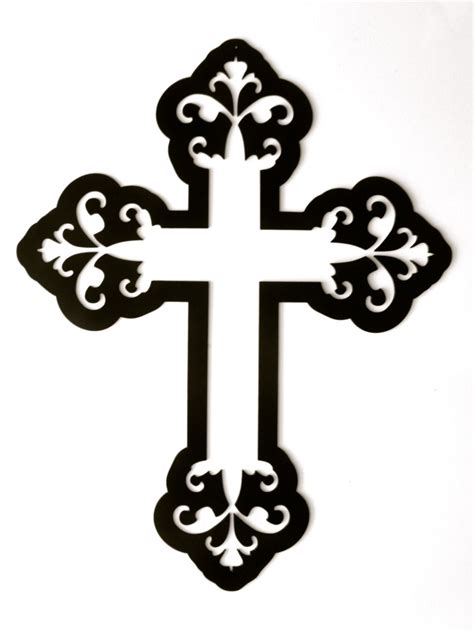 Decorative Cross by Cross Heavy Decorative Metal Wall By Rillabee On Etsy