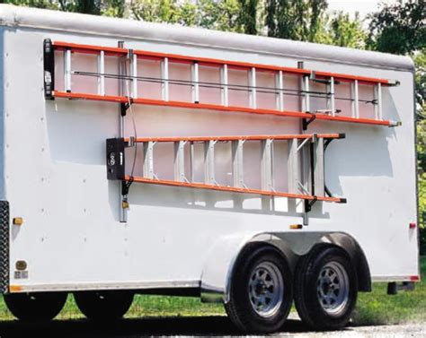 cargo trailer ladder rack mounts to the side of your cargo