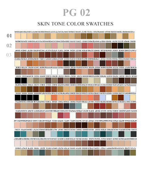 skin tone swatches by ovalbrush on deviantart