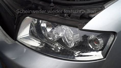 Scheinwerfer Audi A4 B6 by Audi A4 B6 Halogenbirne Scheinwerfer Wechseln Youtube