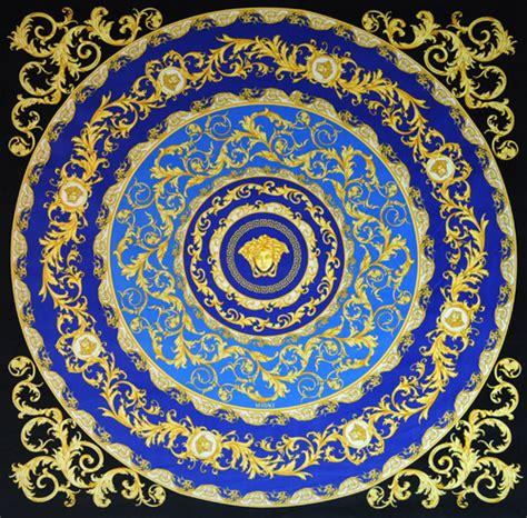 Versace Fabric Upholstery by Versace Medusa Blue Velvet Fabric Panel Throw 54