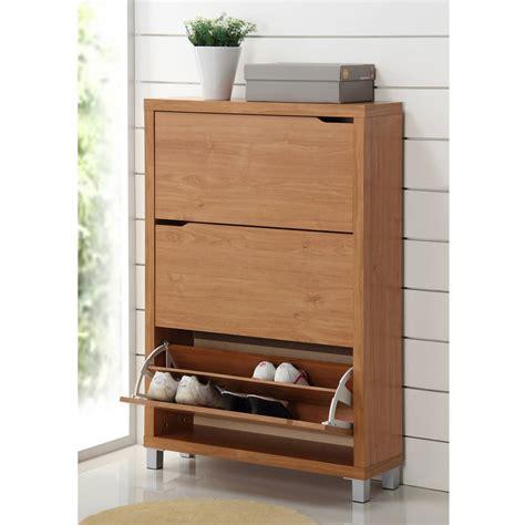 Shoe Cabin by Baxton Studio Wood Shoe Cabinet Walmart