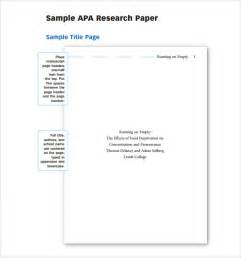 Template For Apa Format Paper by Sle Apa Outline Template 8 Free Documents In Pdf