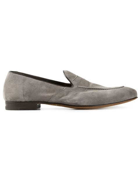 grey loafers for henderson baracco classic loafers in gray for