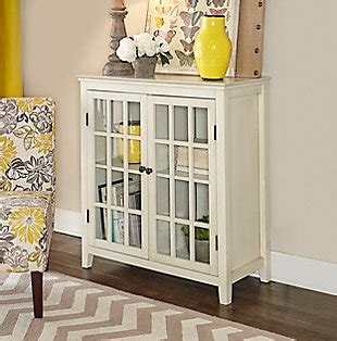 largo antique double door cabinet living room storage ashley furniture homestore