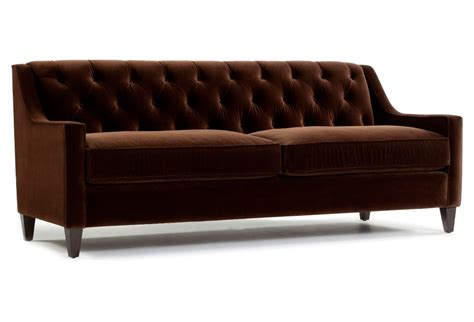 cushions for dark brown sofa dark brown velvet tufted sofa with wooden legs and 2