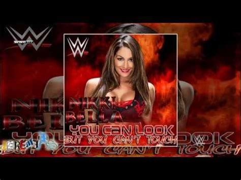 theme song nikki bella wwe you can look but you can t touch nikki bella by