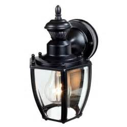motion outdoor lighting heath zenith 11 in h black motion activated outdoor wall