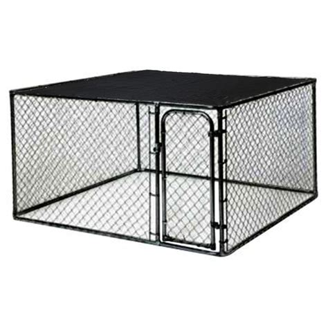 heat l for dog kennel kennelmaster 10 ft x 5 ft x 6 ft black powder coated