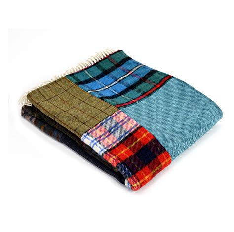 Patchwork Throw - patchwork throw tartan and tweed tweedmill