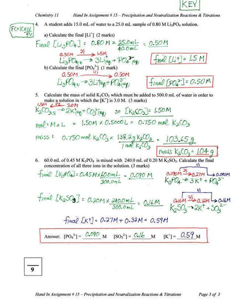 titration worksheet homeschooldressage