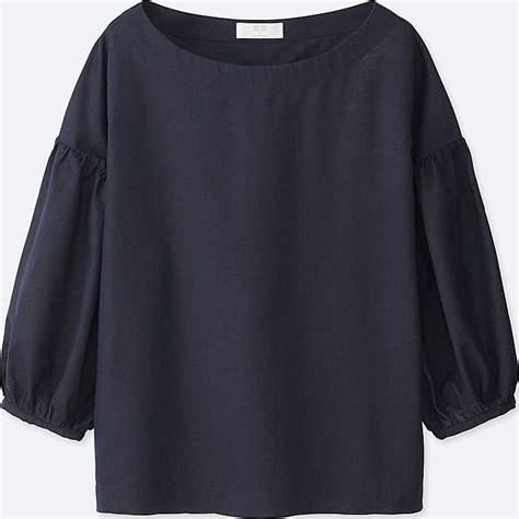 Linen Cotton Blouse cotton linen 3 4 sleeve t blouse uniqlo us