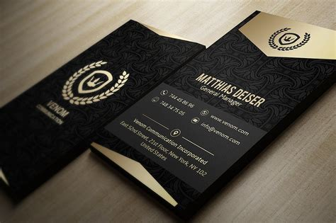 Black And Gold Business Card Templates Free by Gold And Black Business Card Business Card Templates