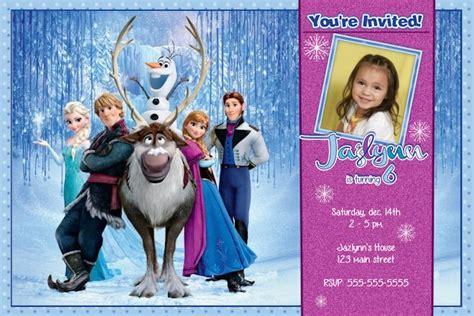 frozen birthday invitation disneys frozen birthday