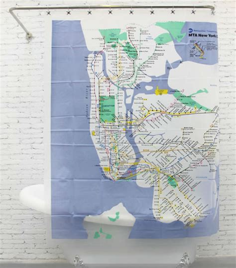 subway map shower curtain new york mta new york city subway peva shower curtain 180