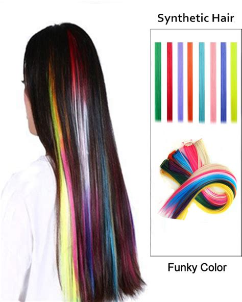 extension new year feshfen new year sale 20 multi colors clip in