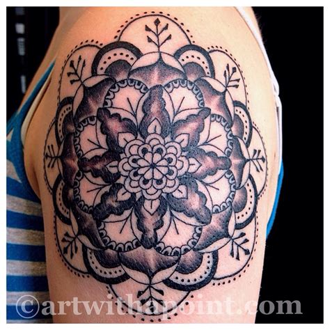geometric tattoo minnesota art with a point 187 geometric mandela snowflake custom