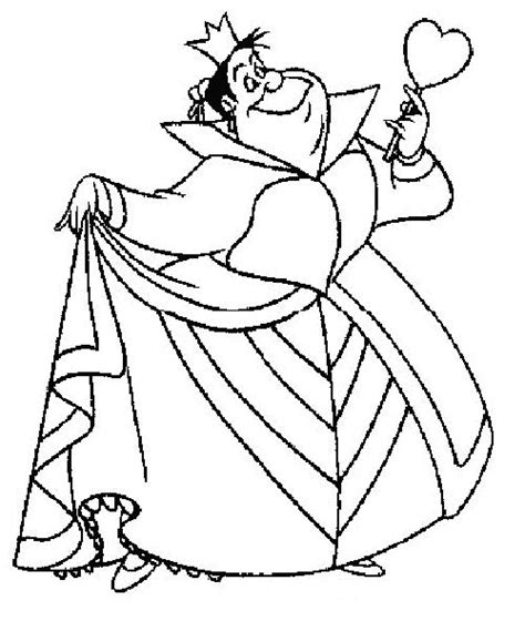coloring page queen of hearts 1000 images about alice in wonderland on pinterest