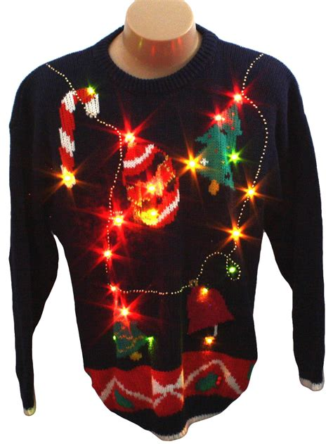 light up ugly christmas sweater retro look spice of life