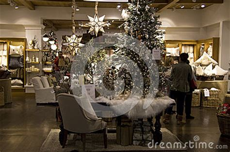 trees home goods decor store editorial image