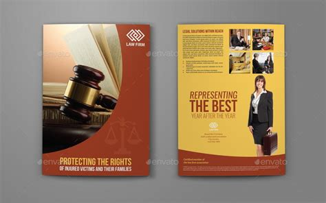 law firm bi fold brochure template by owpictures