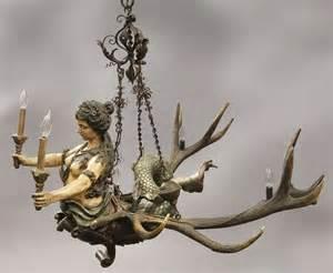mermaid chandelier black forest lusterweibchen mermaid chandelier lot 37