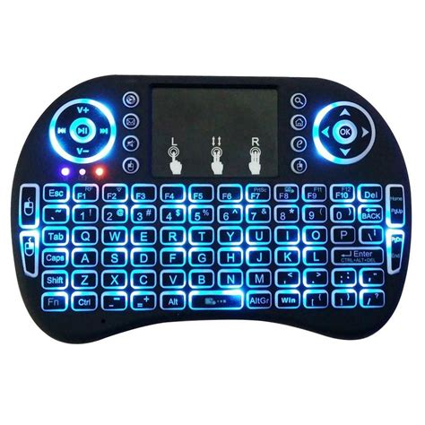 Mini Keyboard Wireless I8 With White Backlight mini i8 2 4ghz 3 colors backlit wireless keyboard touchpad for pc tv box android ebay