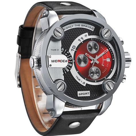 weide jam tangan japan quartz miyota wh3301 black