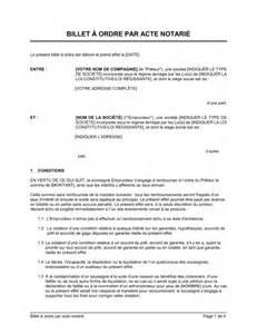 billet 224 ordre par acte notari 233 template amp sample form