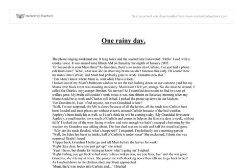 Day Essay by A Rainy Day Essay 500 Word Paper
