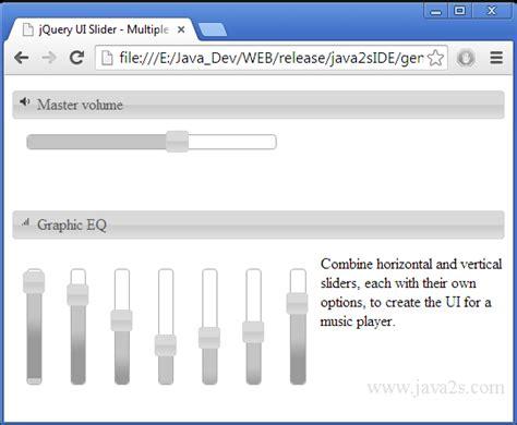 tutorial javascript image slider build jquery ui slider multiple sliders in javascript