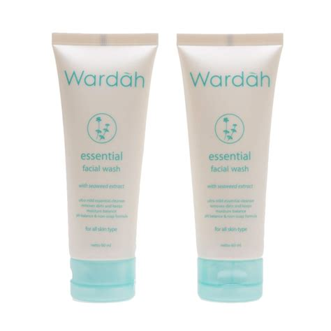 Wardah Balancing Wash jual wardah essential wash with seaweed extract