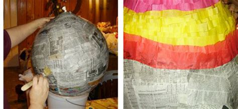 How To Make Paper Mache Pinata - make a paper mache pinata sculpture and collage