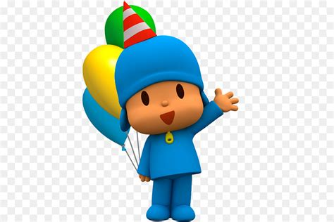 birthday party cartoon pocoyo  transprent png