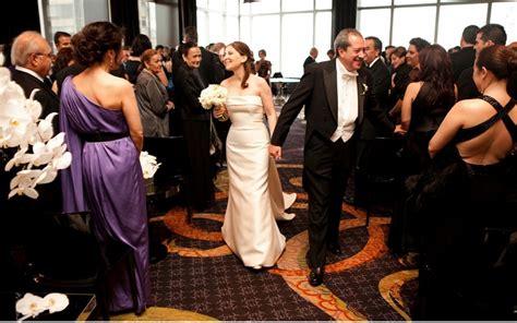 wedding ceremony new york city damy a chic black white wedding at the mandarin