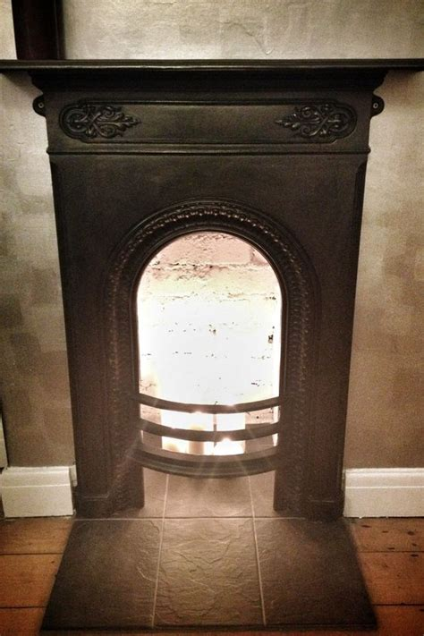 Cast Iron Fireplace Paint by Cast Iron Fireplace Detail No Hearth Candles Slate Directional Silver Metallic