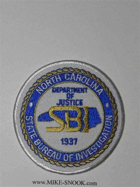 state bureau of investigations mike snook s patch collection state of carolina
