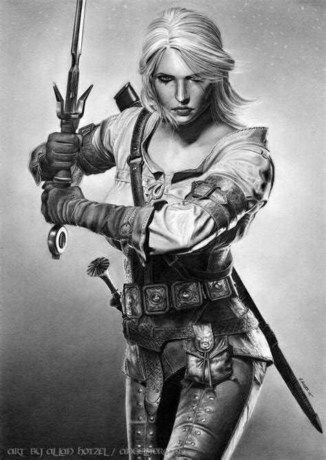 Witcher 3 Sketches by She Is Done My Completed Graphite Pencil Drawing Of Ciri