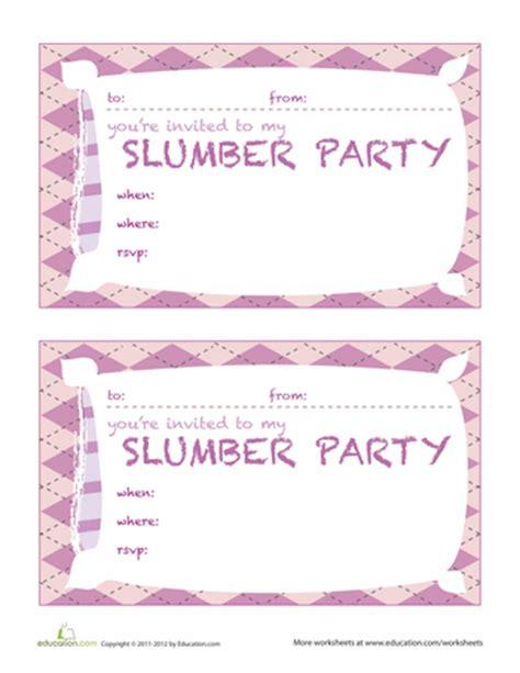 printable birthday invitations for sleepover invitation printables education com