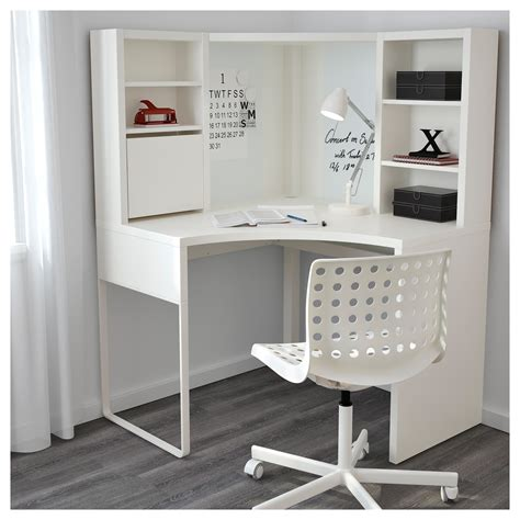 Micke Corner Workstation White 100x142 Cm Ikea Child Corner Desk