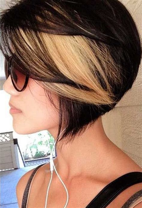 highlighting short hair styles black hair with blonde highlights for short hairstyles