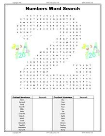 printable word search numbers esl english vocabulary printable worksheets on dates and