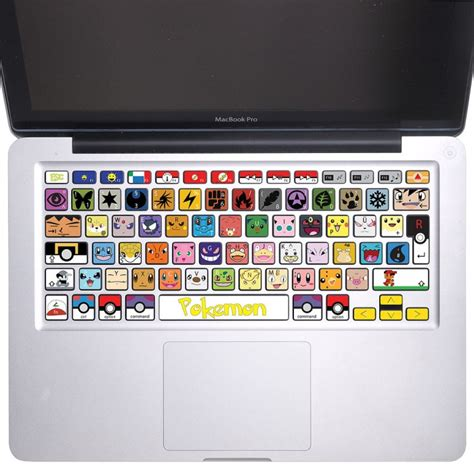 Aufkleber Macbook Tastatur by Pokemon Tastatur Aufkleber F 252 R Macbook