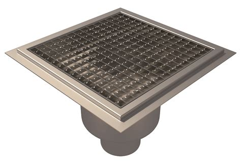 Square Floor L Floor Gully Resin Flooring L15 Square Grating Bottom Outlet 216 110 300x300