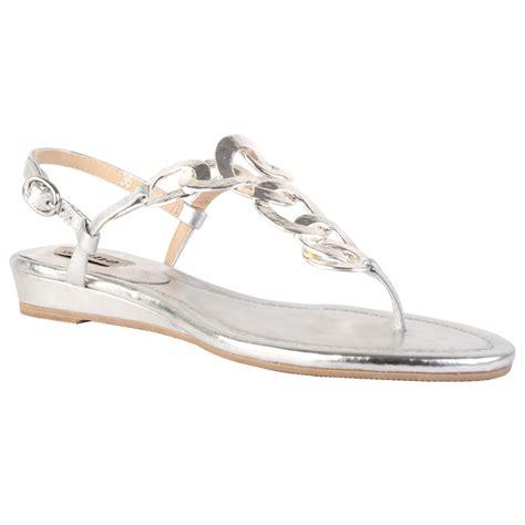 silver sandals dune womens jo jo silver flat metallic ring t bar