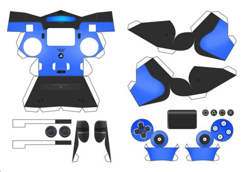 Playstation Papercraft - playstation 4 controller papercraft portugu 234 s