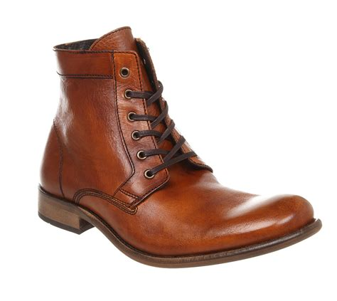 mens ask the missus lace boot leather boots ebay