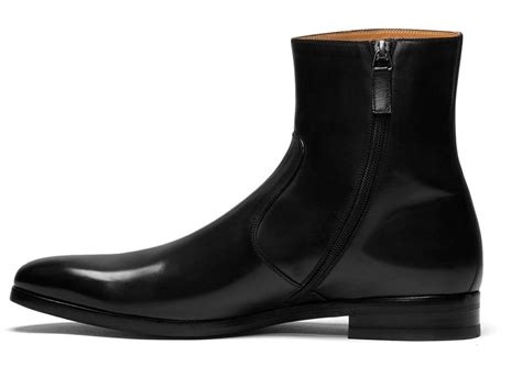 mens dress zipper boots handmade leather side zipper boots mens genuine
