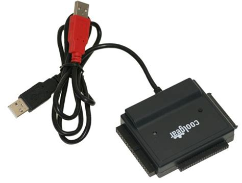 USB 2.0 to IDE / SATA Adapter, Works with 2.5/3.5/5.25 HDD