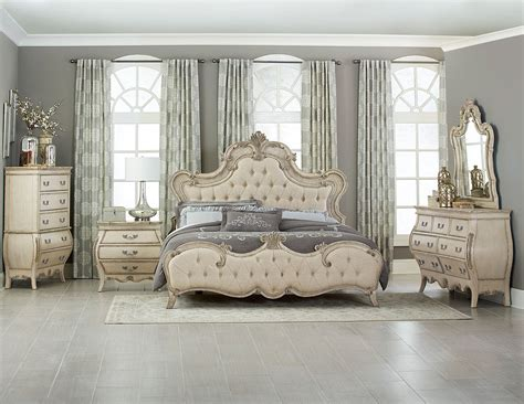 tufted bedroom set homelegance elsmere button tufted upholstered bedroom set